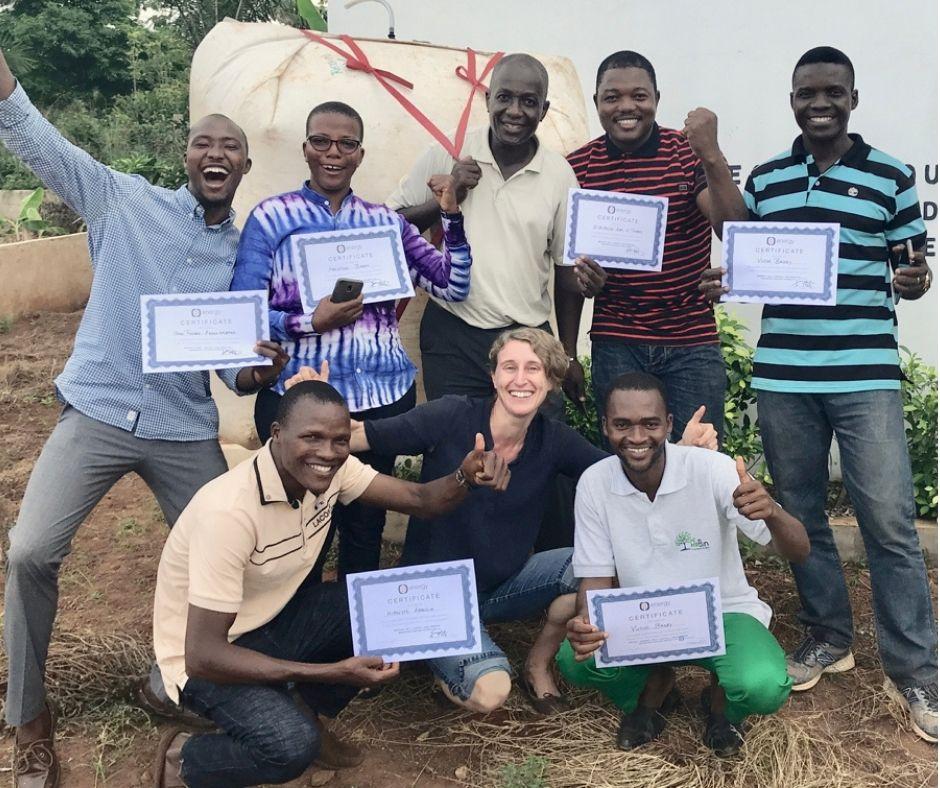 New (B)trained online graduates cheer