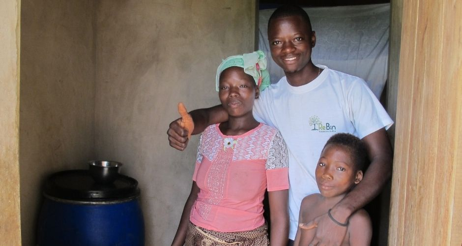 Happy family of biogas users